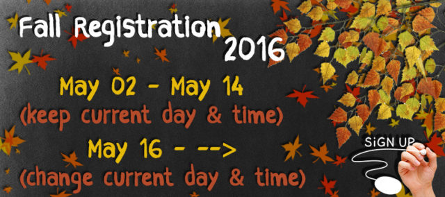 Fall 2016 Registration